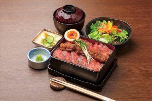 《ランチメニュー》宮崎県産黒毛和牛ローストビーフ重の画像
